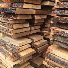 unedged Oak lumber